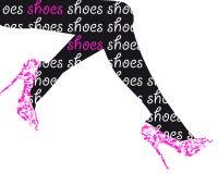 Fashion shoes background Stock Photos