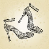 Fashion shoes background Stock Images