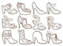 Free Fashion Shoes Collection Royalty Free Stock Images - 35144149