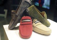 Fashion shoes. In hong kong shop Stock Photos