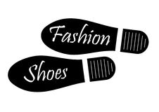 Fashion Shoes. Illustration of footprints for banners, advertisments and commercial purposes Stock Photo