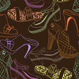 Fashion shoes pattern Royalty Free Stock Photography