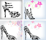 Fashion shoes set Royalty Free Stock Image