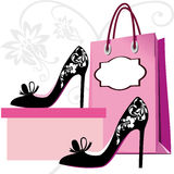 Fashion shoes shopping Stock Images