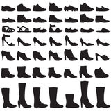 Fashion shoes silhouette Stock Images