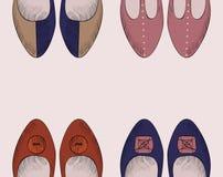Fashion  shoes. Trendy fashion  shoes.  Fashionable Hand drawn illustration Royalty Free Stock Image