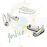 Fashion  shoes. Royalty Free Stock Photography