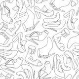 Fashion shoess pattern. Vector illustration Royalty Free Stock Photos