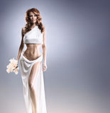 Fashion shoot of an Aphrodite styled young woman Stock Images