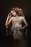 Fashion shoot of beautiful woman. Retro style Stock Photos