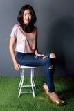 Fashion shoot of beautiful woman Stock Image