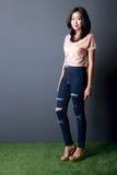 Fashion shoot of beautiful young woman Stock Photo