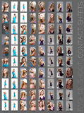 Fashion shoot contact sheet . Royalty Free Stock Photo