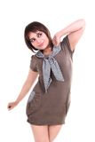Fashion Shoot With Female Model Stock Photo