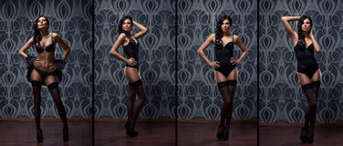 Fashion shoot of young sexy women in lingerie Stock Image
