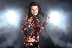 Fashion shoot of young and woman Royalty Free Stock Photos