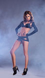 Fashion shoot of a young woman in erotic clothes Royalty Free Stock Photo