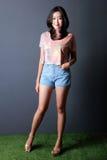 Fashion shoot of young woman posing Royalty Free Stock Photos