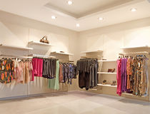 Fashion shop Stock Images