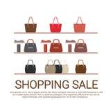 Fashion Shop Interior Big Holiday Sale Shopping Royalty Free Stock Photos