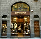 Fashion shop in Italy stock image