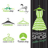 Fashion shop logo  Royalty Free Stock Images