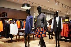 Fashion shop mannequins boutique store Royalty Free Stock Photos