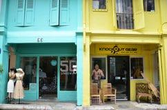 Fashion shop which is located in Haji Lane Stock Photo