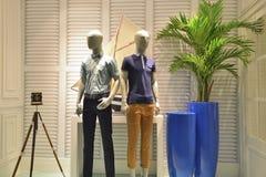 Fashion shop window Stock Photos