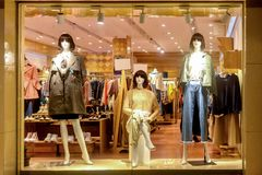 Fashion shop window clothing store front royalty free stock images