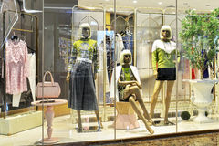 Fashion shop window Royalty Free Stock Images