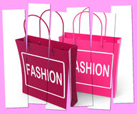 Fashion Shopping Bags Represent Fashionable and Trendy Products Royalty Free Stock Photography
