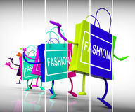 Fashion Shopping Bags Represent Trends, Shopping, and Designs Royalty Free Stock Images