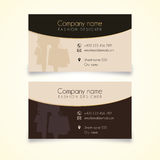 Fashion or shopping business card. Vector for fashion graphic and use for shopping or for Cosmetic company Stock Images