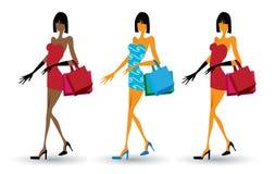 Fashion shopping female Royalty Free Stock Photography