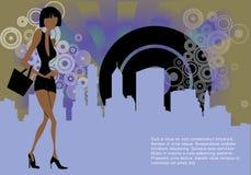 Fashion shopping female Royalty Free Stock Image