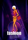 Fashion shopping female Stock Images