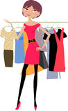 Fashion shopping girl Stock Image