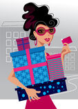 Fashion shopping girl Royalty Free Stock Image