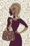 Fashion shopping girl. Beautiful silhouette Royalty Free Stock Photos