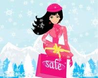 Fashion shopping girl Stock Photography