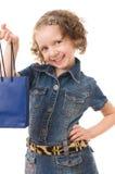 Fashion Shopping Girl Portrait. Royalty Free Stock Photography