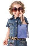 Fashion Shopping Girl Portrait Stock Photos