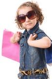 Fashion Shopping Girl Portrait Royalty Free Stock Image
