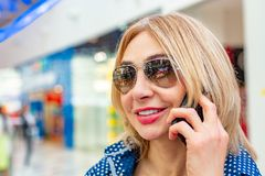 Fashion Shopping Girl Portrait. Beauty Woman in Shopping Mall. Shopper. Sales. Shopping Center Royalty Free Stock Images