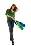 Fashion Shopping Girl With Two Bags. Stock Photography