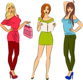 Fashion shopping girls. Stock Photography