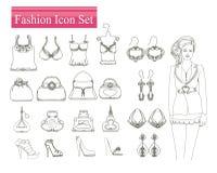 Fashion shopping icon  set Stock Photo