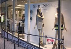 Fashion shopping in Japan Stock Image