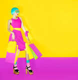 Fashion shopping lady Stock Photography